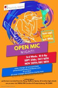 Open Mic Night @ Pimenta | Fredericksburg | Virginia | United States
